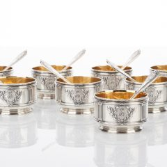 Set of Eight Silver Salt Cellars