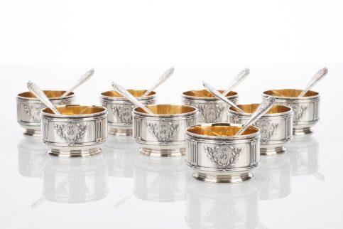 Set of Eight Silver Salt Cellars