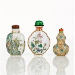 Three Enamelled Snuff Bottles