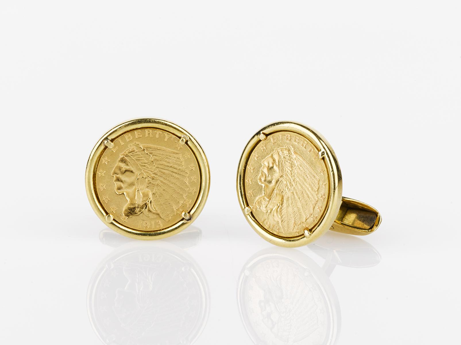 dated coin cufflinks