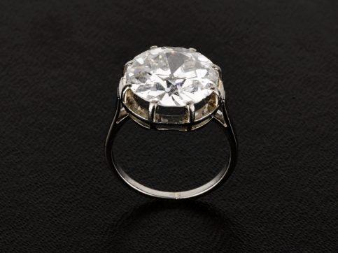 Solitaire 7.18ct Diamond Ring