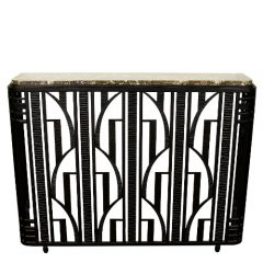 French Art Deco Wrought Iron Console Table