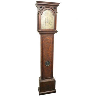 Queen Anne Burr Walnut Longcase Clock