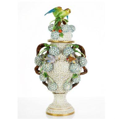 Porcelain Covered Vase,German, c. 1890