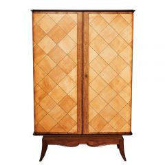 French Art Deco Lacewood and Marquetry Cabinet, c. 1930