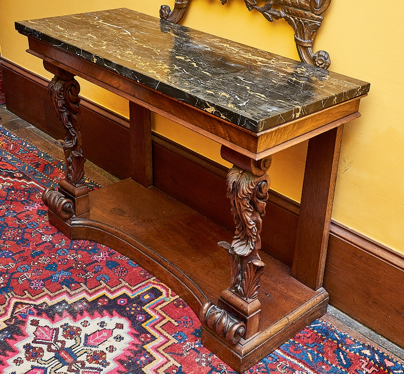 Regency Marble Topped Console Table Shapiro Auctioneers